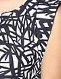 Image 4 of ASOS Printed Power Shoulder Dress