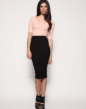 Image 1 of ASOS Pencil Skirt in Jersey