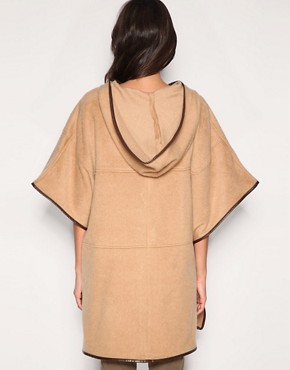 Image 2 of ASOS Contrast Trim Cape