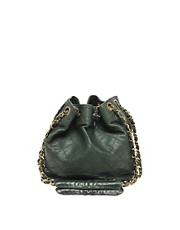 Vintage Chanel Leather Duffle Bag