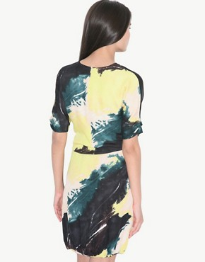 Image 2 ofSelected Femme Graphic Print Dress