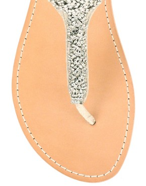 Image 4 ofSteve Madden Bride Diamante T-Bar Strap Flat Sandal