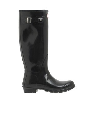 Image 1 ofHunter Original Gloss Wellington Boots