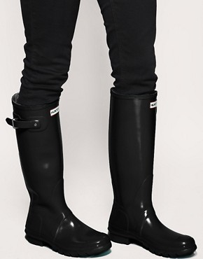 Image 3 ofHunter Original Gloss Wellington Boots
