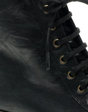 Image 2 ofASOS ARCHIVE Leather Lace Up Ankle Boots