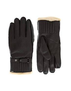 Image 1 ofBarbour Leather Utility Gloves