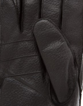 Image 2 ofBarbour Leather Utility Gloves