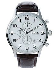 Boss by Hugo Boss Leather Watch
