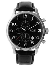 BOSS By Hugo Boss Black Dial Strap Watch