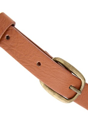 Image 2 ofASOS Square Buckle Skinny Boyfriend Waist Belt