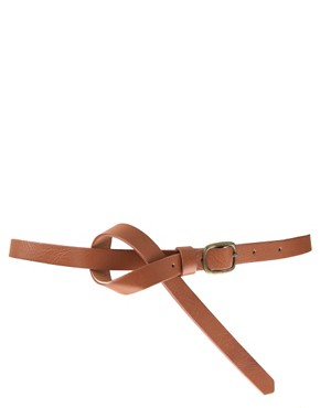 Image 1 ofASOS Square Buckle Skinny Boyfriend Waist Belt