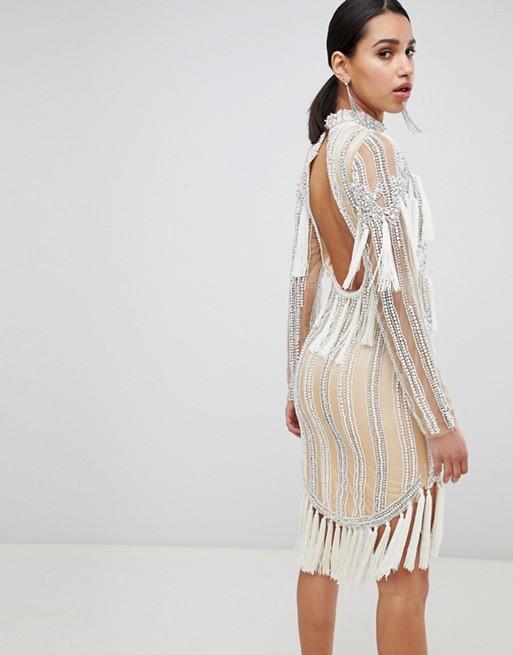 Is Embellished Tassel Dress Star Mini A Born Rv0FFS