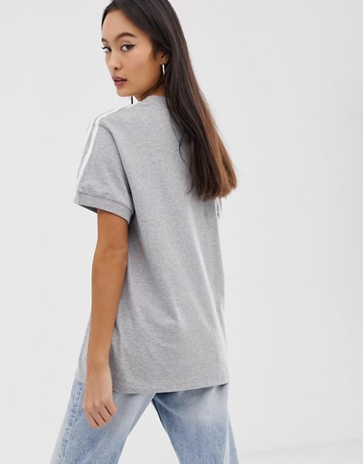 adidas Originals - adicolor - T-shirt à trois bandes - Gris