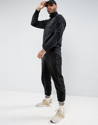 Image 1 of adidas Originals Challenger Velour Track Jogger In Black BR2167