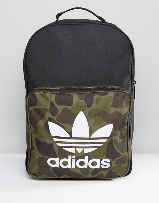 Adidas Menswear - Adidas Originals Classic Camo Backpack Black