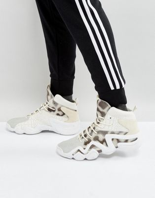 Image 1 of adidas Originals Crazy 8 Primeknit Sneakers In White BY4367