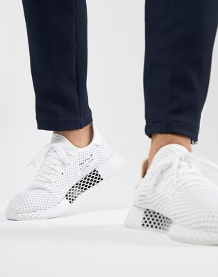 Image 1 of adidas Originals Deerupt Runner Trainers In White CQ2625
