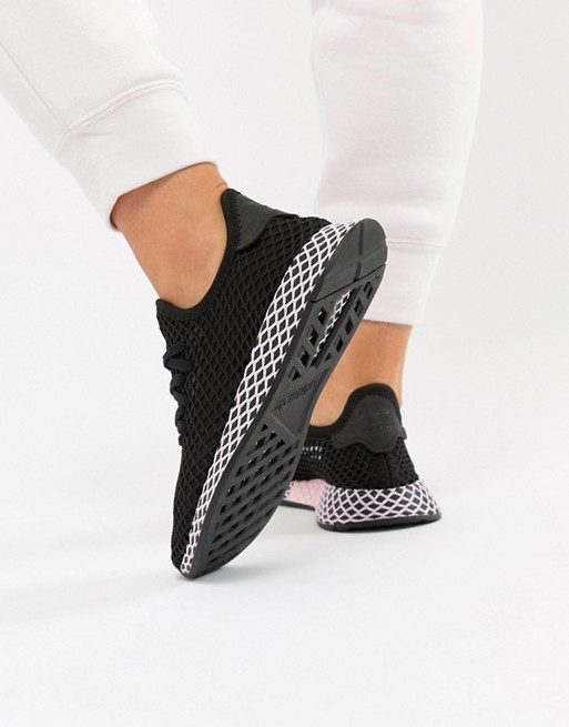 adidas Originals | adidas Originals – Deerupt – Sneaker in in in Schwarz und Lila e16c50
