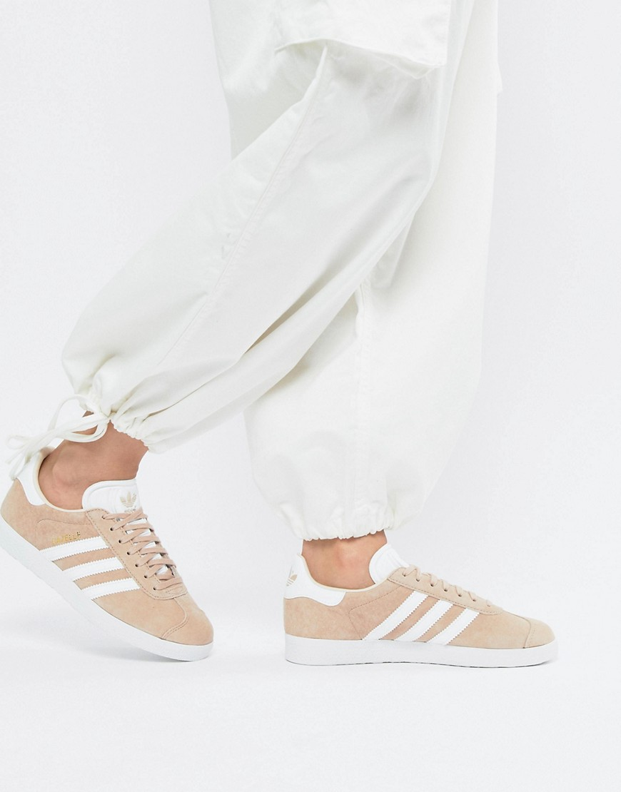 Adidas Originals Gazelle Sneakers In Blush by Adidas