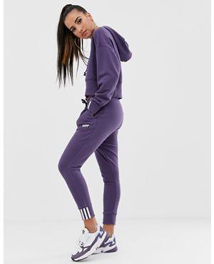 아디다스 Adidas adidas Originals RYV cuffed jogger in purple,Trace purple