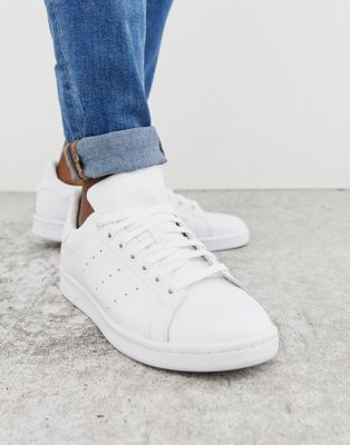 Image 1 of adidas Originals Stan Smith trainers in white s75104
