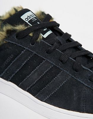 adidas superstar fur grey