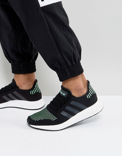 95e5c61e744a8 ... Black Green CG4110 Available Now adidas Originals adidas Originals  Swift Run Trainers In Bla ...