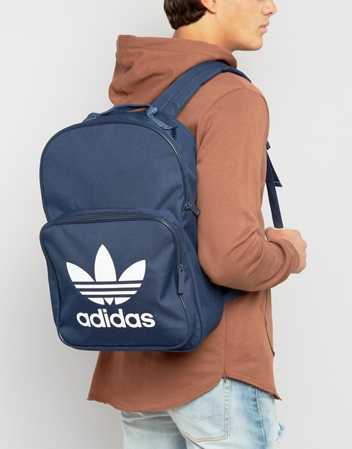 collegiate navy trefoil in Originals bk6724 pocket with Originals front adidas backpack adidas YAq1nC