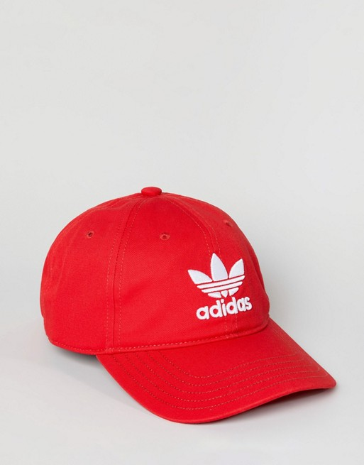 In adidas Trefoil Originals Logo Originals DJ0884 Red Cap adidas nCqwtYxO5B