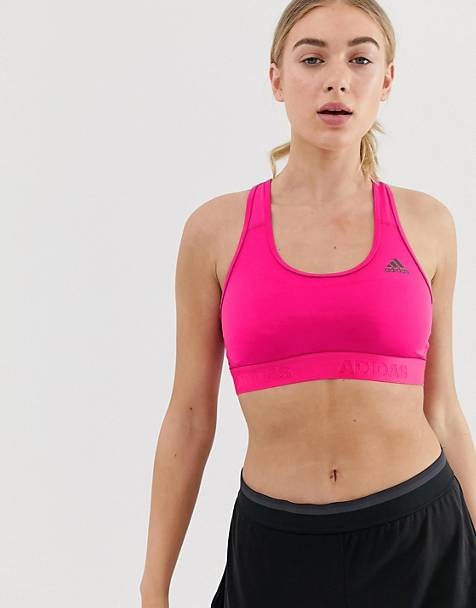 adidas Training Don't Rest Bra In Pink