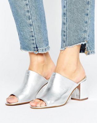Image 1 of ALDO Rewen Metallic Mid Heeled Mules