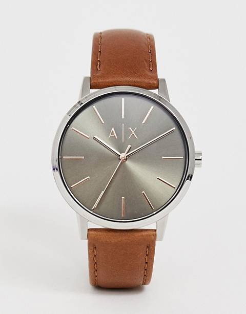 Armani Exchange AX2708 Cayde leather watch 42mm