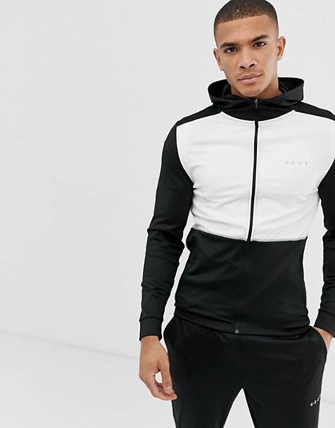 ASOS 4505 training hoodie with quick dry and contrast panels