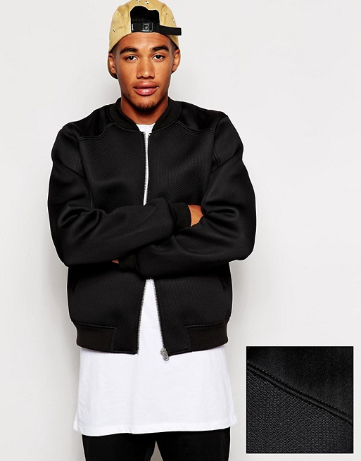 ASOS | ASOS Bomber Jacket In Neoprene