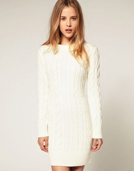 Knitting Pattern Cable Dress : ASOS ASOS Cable Knit Jumper Dress