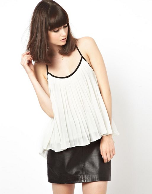 Image 1 of ASOS Cami with Pleat Detail
