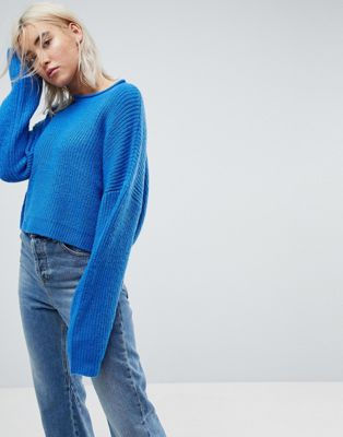 Image 1 of ASOS Cropped Oversized Jumper
