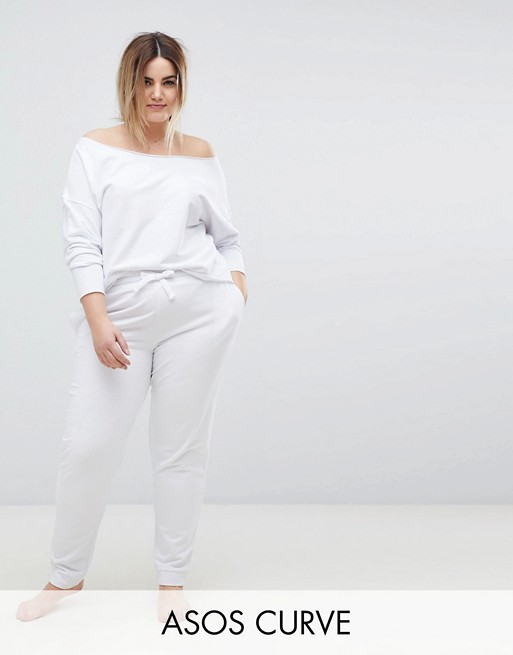 Buy Cheap Recommend Cheap Sale Browse LOUNGE Jogger - White Asos Curve Free Shipping From China rrXTRTE
