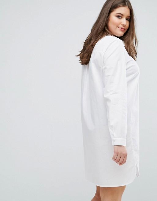 CURVE - Robe chemise en coton