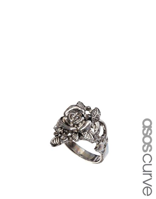 Image 1 of ASOS CURVE Rose Ring