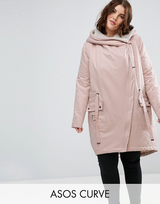 Outlet Inexpensive ASOS Waterfall Parka with Borg Lining Cheap Shop Offer Discount View us5F6zM