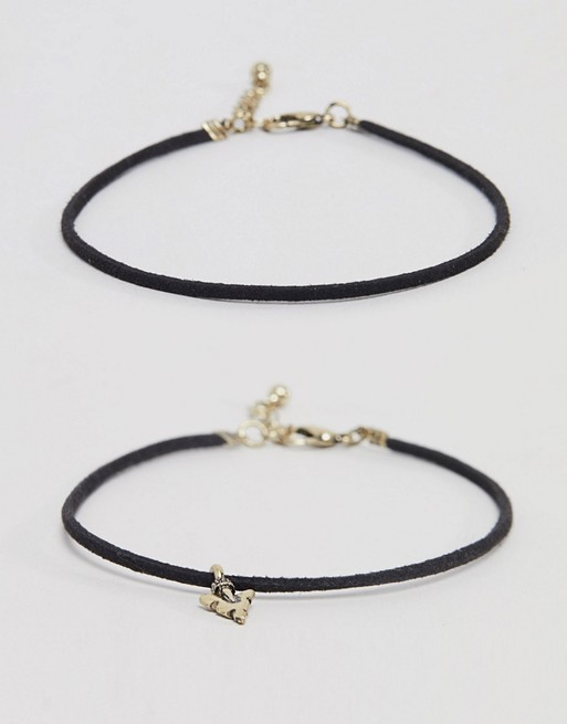 arrow anklet pack 2 with DESIGN gold in ASOS ASOS burnished UgwYSS