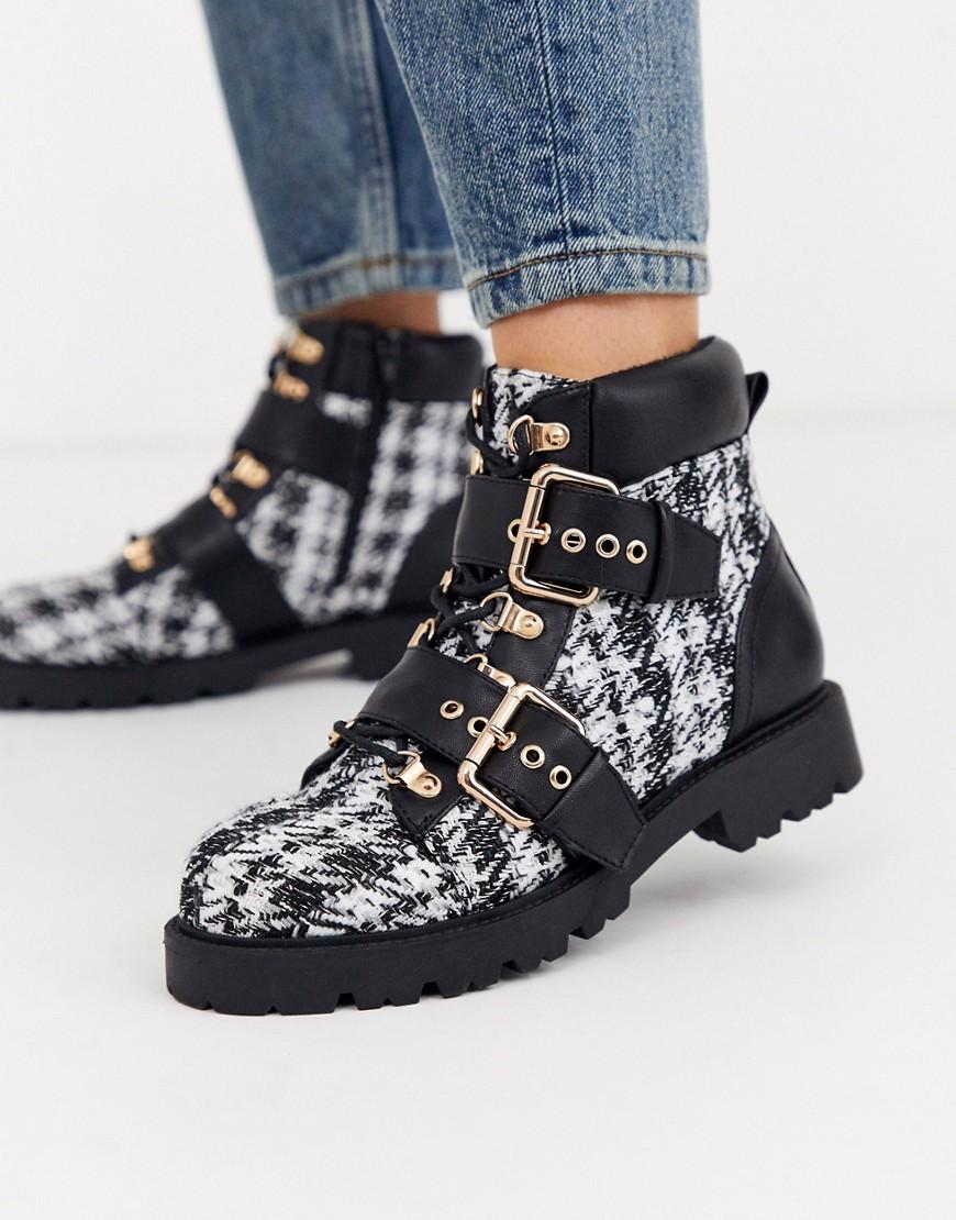 아소스 ASOS DESIGN Avenue hiker boots in tweed 1512622