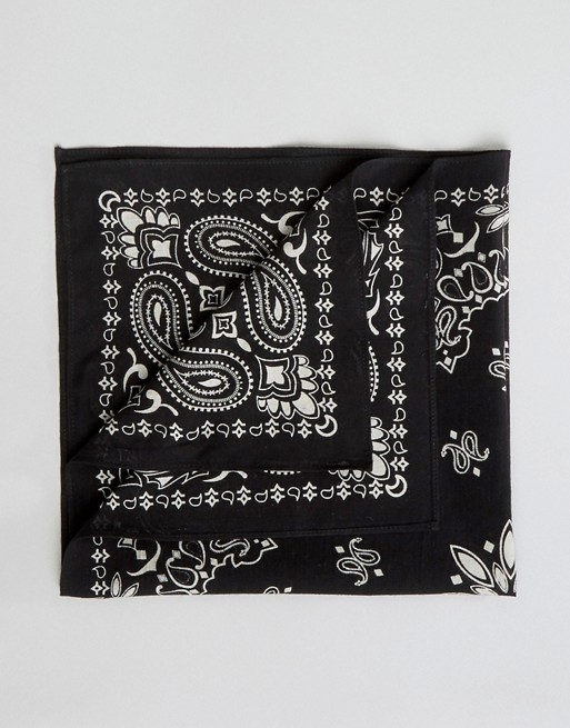 paisley ASOS in black bandana DESIGN ASOS fnwqS0nB
