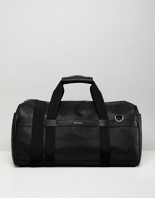 Black Emboss Silver ASOS With ASOS DESIGN In Carryall Leather In Faux n1p0Twq