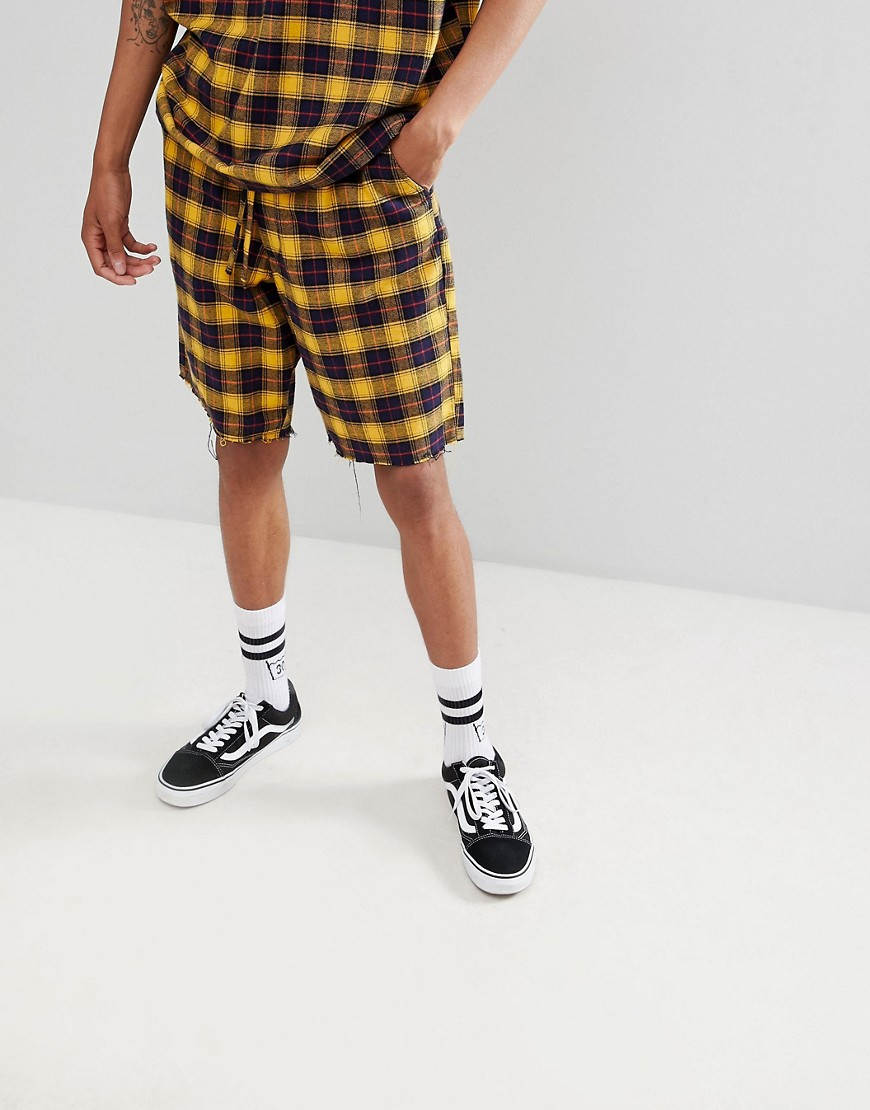 Asos Design Co Ord In Yellow Check by Asos