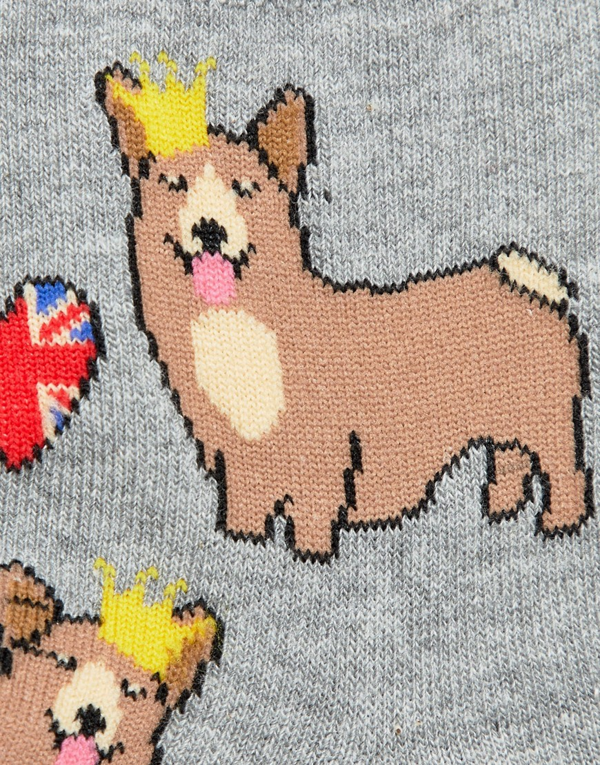 Asos Design Corgi And Heart Sock by Asos Design