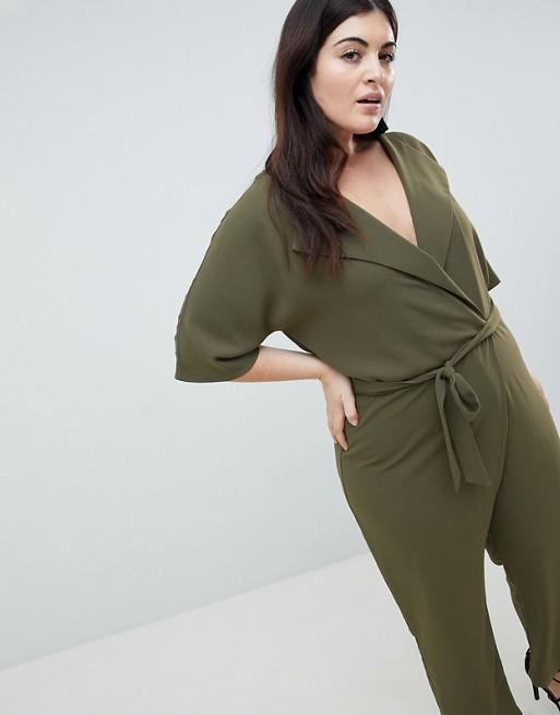 With Design Curve Wrap Jumpsuit Belt Asos Self 0qIUU