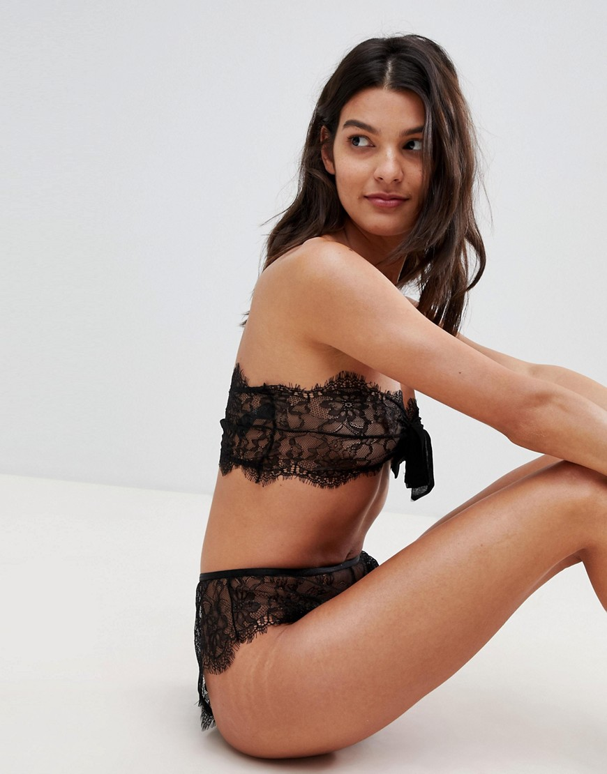 Asos Design Eva Lace & Bow Front Soft Bra by Asos Design