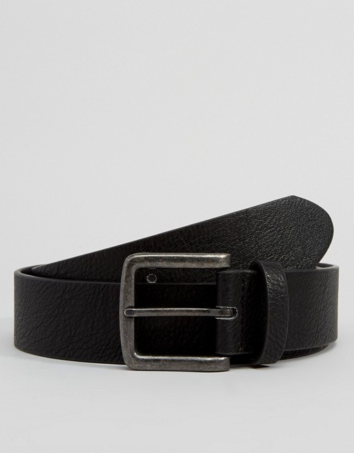 DESIGN leather ASOS wide belt ASOS faux in black Oq1wSZ